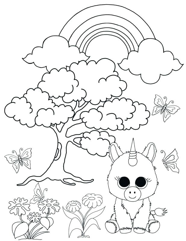 618x800 Beanie Boo Coloring Pages Beanie Boo Coloring Pages Unicorn