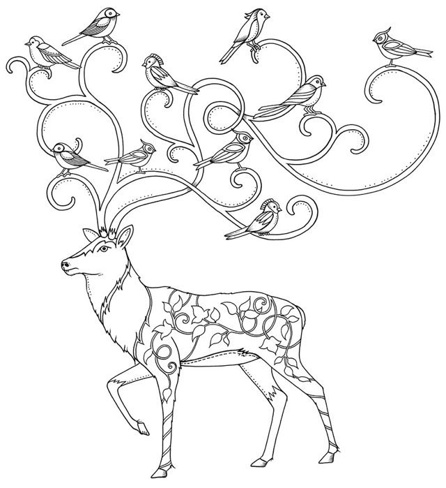 640x699 Potential Mural From The Enchanted Forest Book Christmas