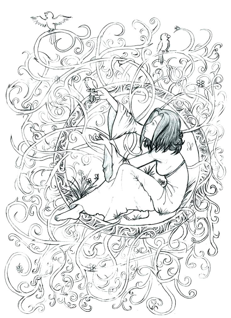 Enchanted Forest Coloring Pages Printable at GetDrawings.com ...