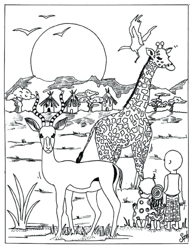 640x823 Wildlife Coloring Book And Endangered Species Coloring Book
