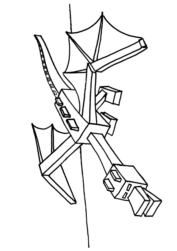 595x842 Minecraft Ender Dragon Coloring Page