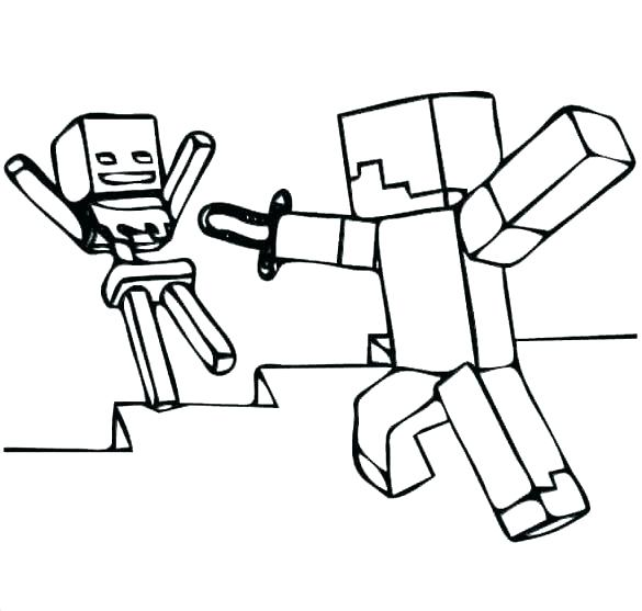 585x557 Minecraft Coloring Pages Ender Dragon