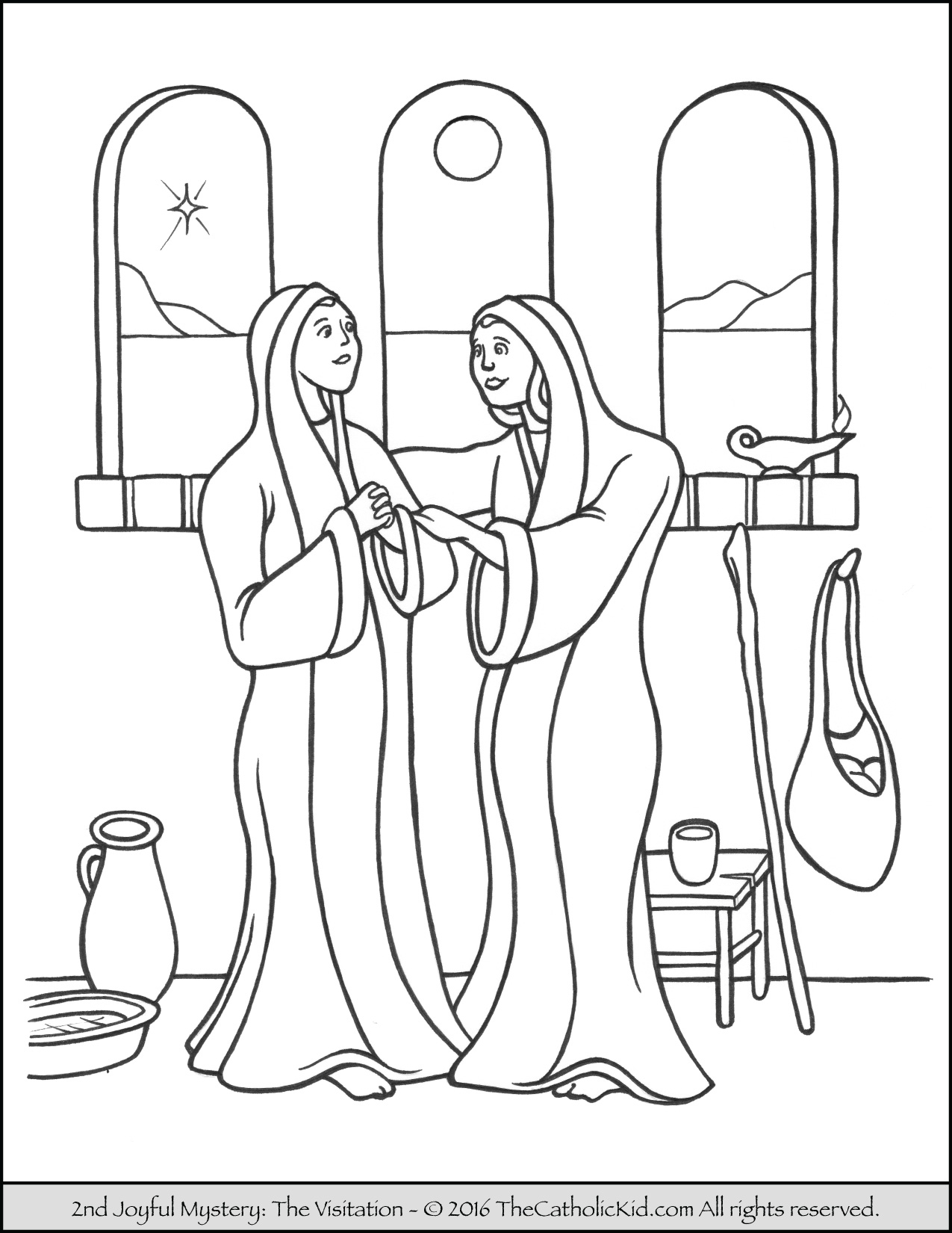 1275x1650 Energy Rosary Coloring Page With Glorious Myst