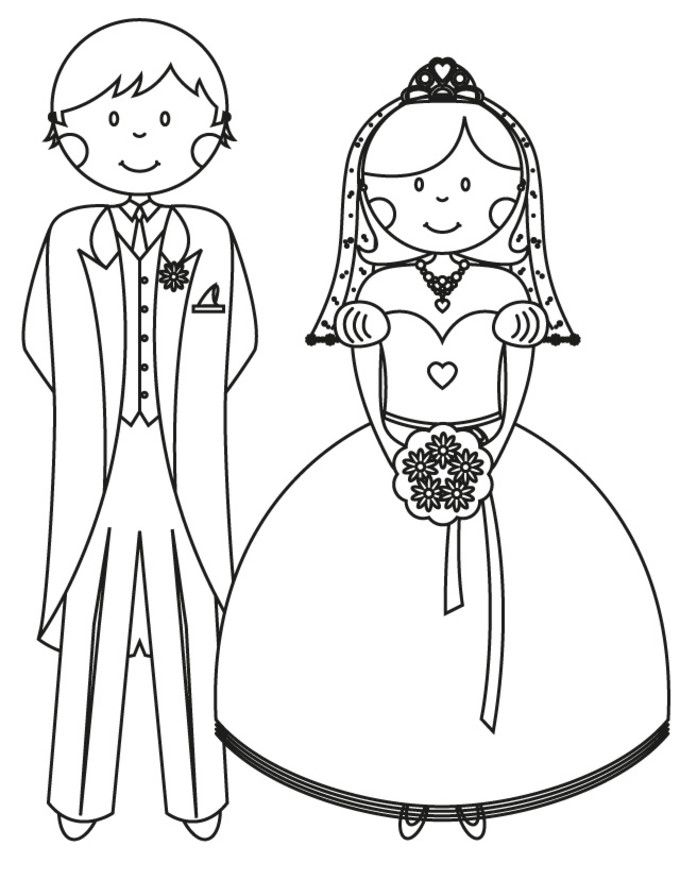 Engagement Coloring Pages