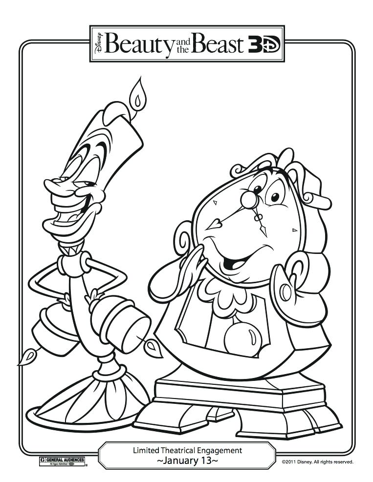 763x987 Beauty And The Beast Coloring With Beauty And The Beast Coloring