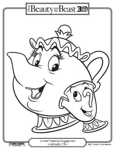 367x479 Beauty And The Beast Coloring Pages Kidlets Beast