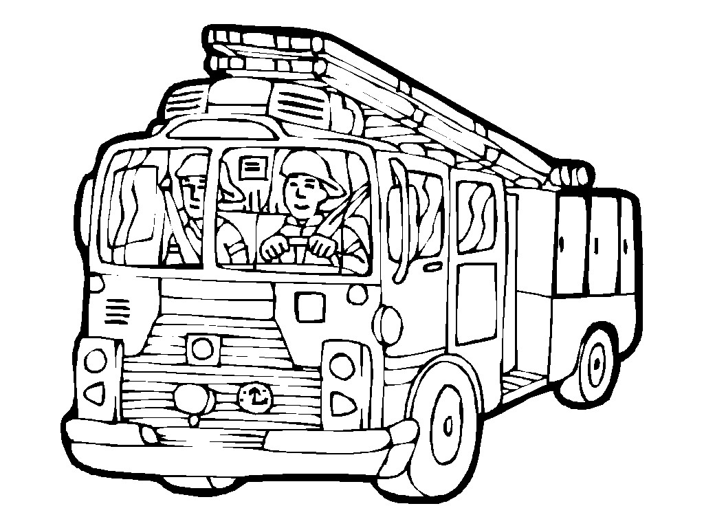 1024x768 Fire Engine Coloring Page Printable Fire Engine Coloring Pages
