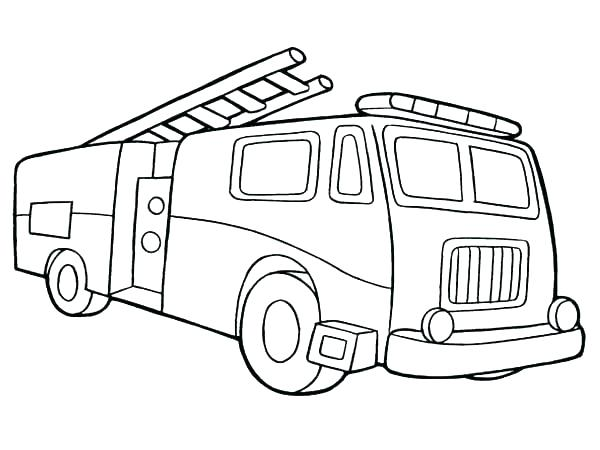 600x450 Fire Engine Coloring Pages To Print Printable Truck Coloring Pages
