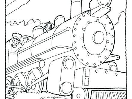 440x330 Freight Train Coloring Pages Train Engine Coloring Page Freight