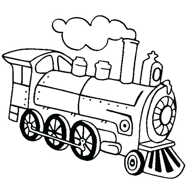 600x600 Steam Engine Coloring Pages Steam Train Picture Coloring Page