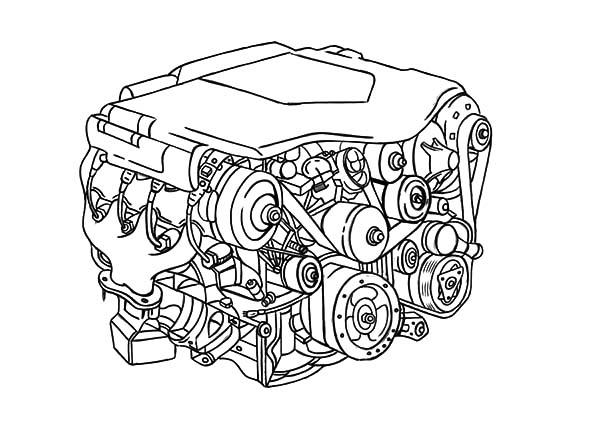 600x440 Car Engine Parts Coloring Pages Best Place To Color