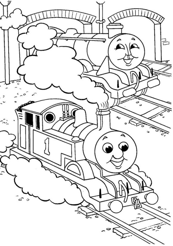 600x853 Thomas The Tank Engine Coloring Pages