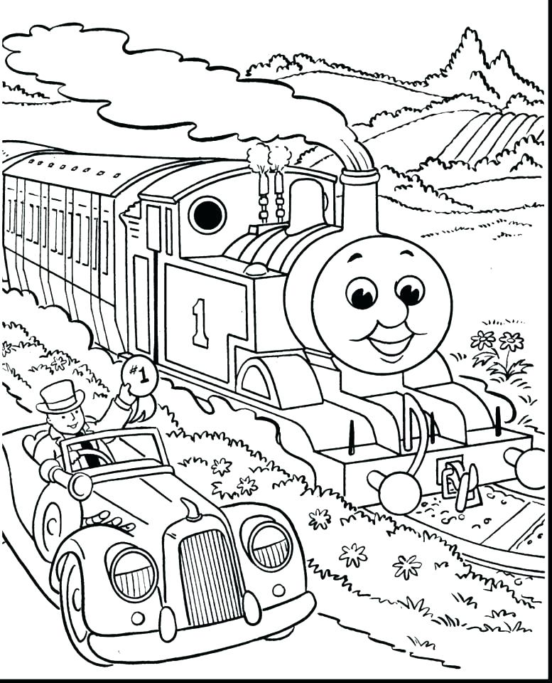 777x960 Train Coloring Pages Free The Engine Coloring Pages Free The Train