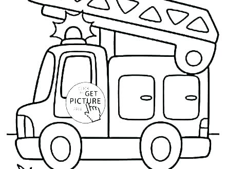 440x330 Fire Engine Coloring Page
