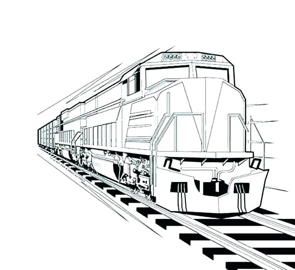 600x549 Coloring Pages Train Train Engine Coloring Page Locomotive