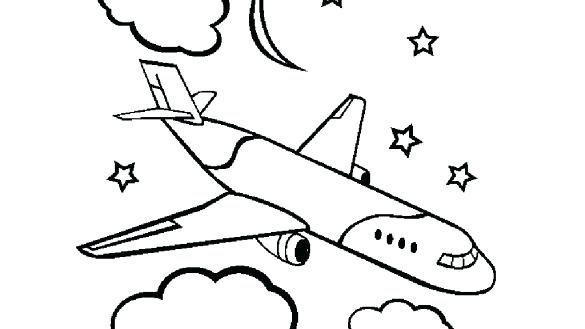 585x329 Aeroplane Coloring Pages