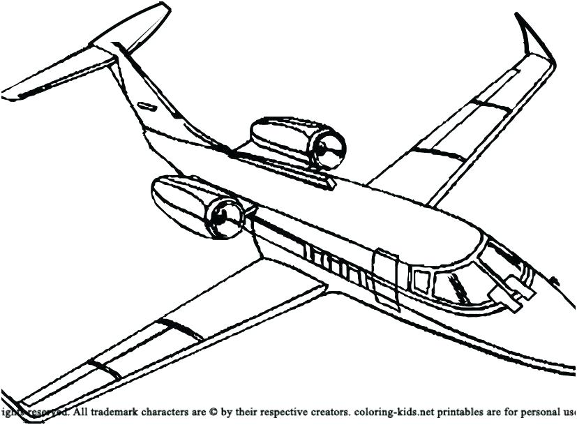827x609 Airplanes Coloring Pages