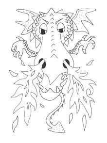 220x295 Dragon Coloring Pages My Little Ones Dragons