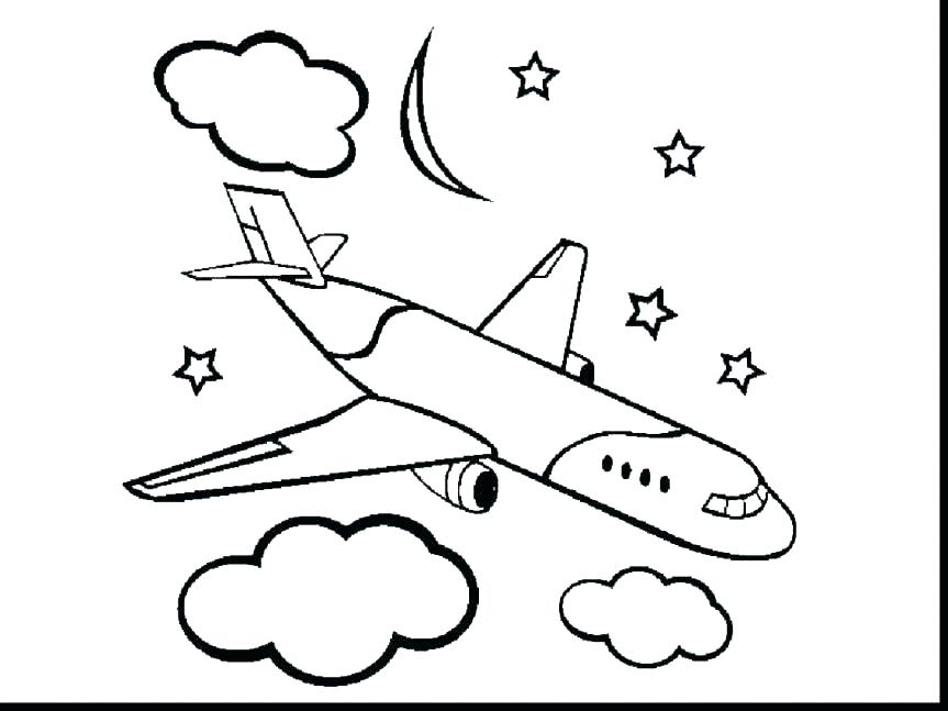 863x647 Coloring Airplane Airplane Coloring Page Photos Free Online