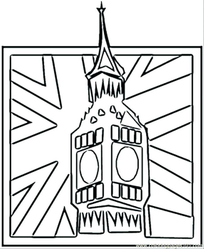 650x795 England Flag Coloring Page Printable London England Flag Coloring