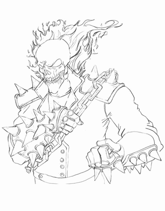 572x730 Ghost Rider Coloring Sheet Free Printable England Coloring Pages