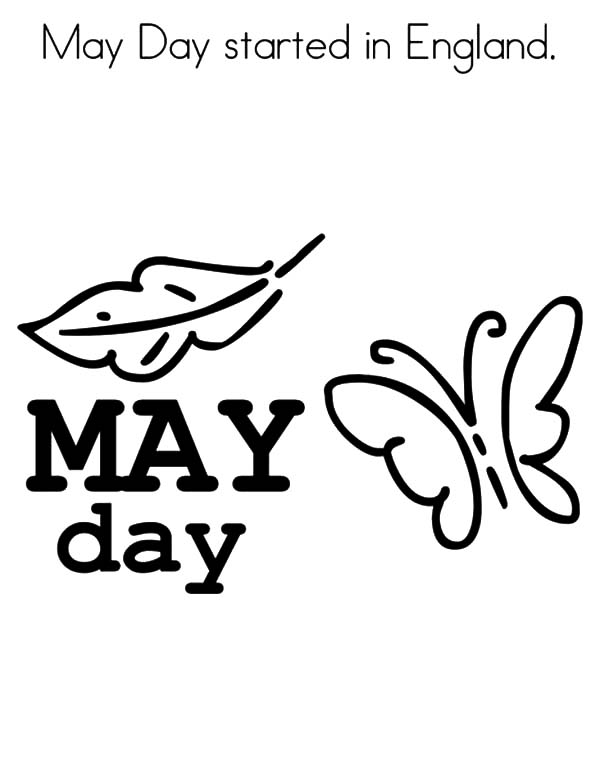 600x776 May Day Started England Coloring Pages May Day Started