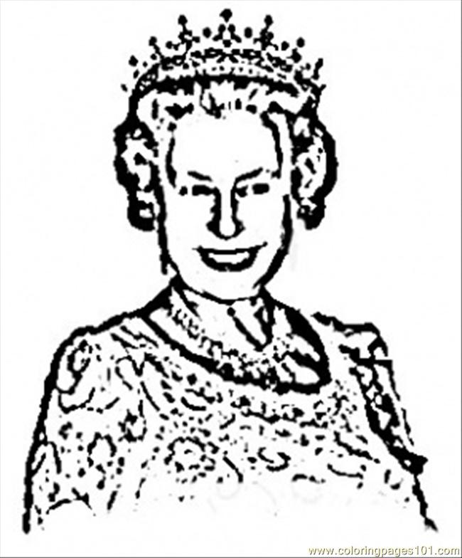650x784 Royal Queen Coloring Page