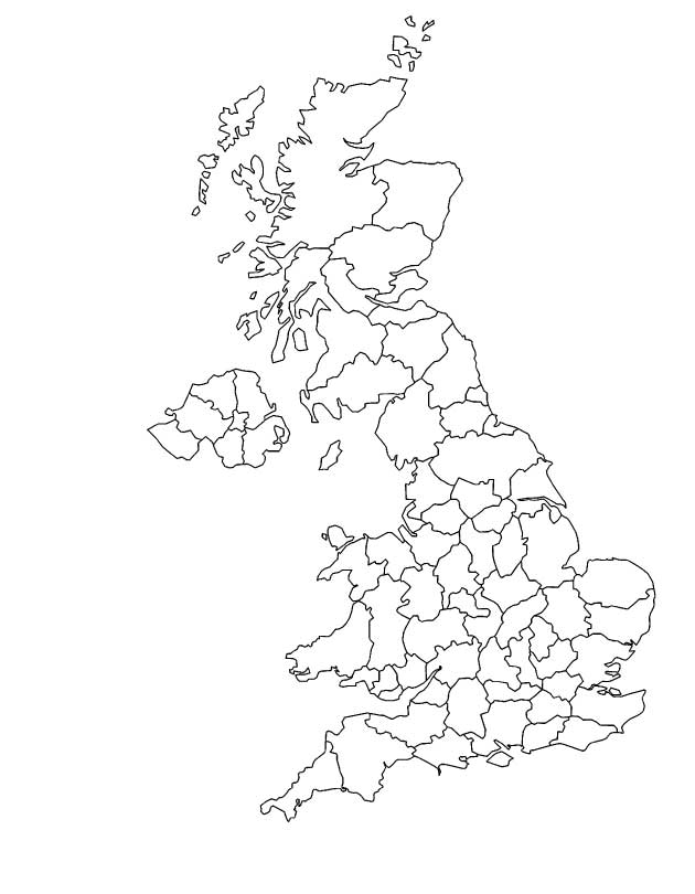 630x810 Unlimited Outline Map Of England Coloring Page United Kingdom