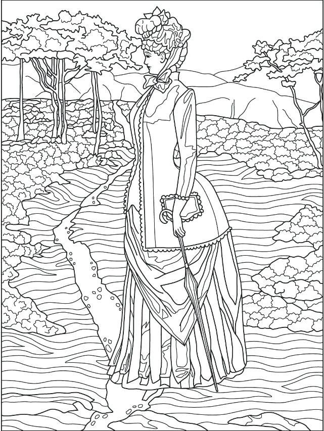 641x853 Victorian Coloring Pages Best All Time Coloring Freebies