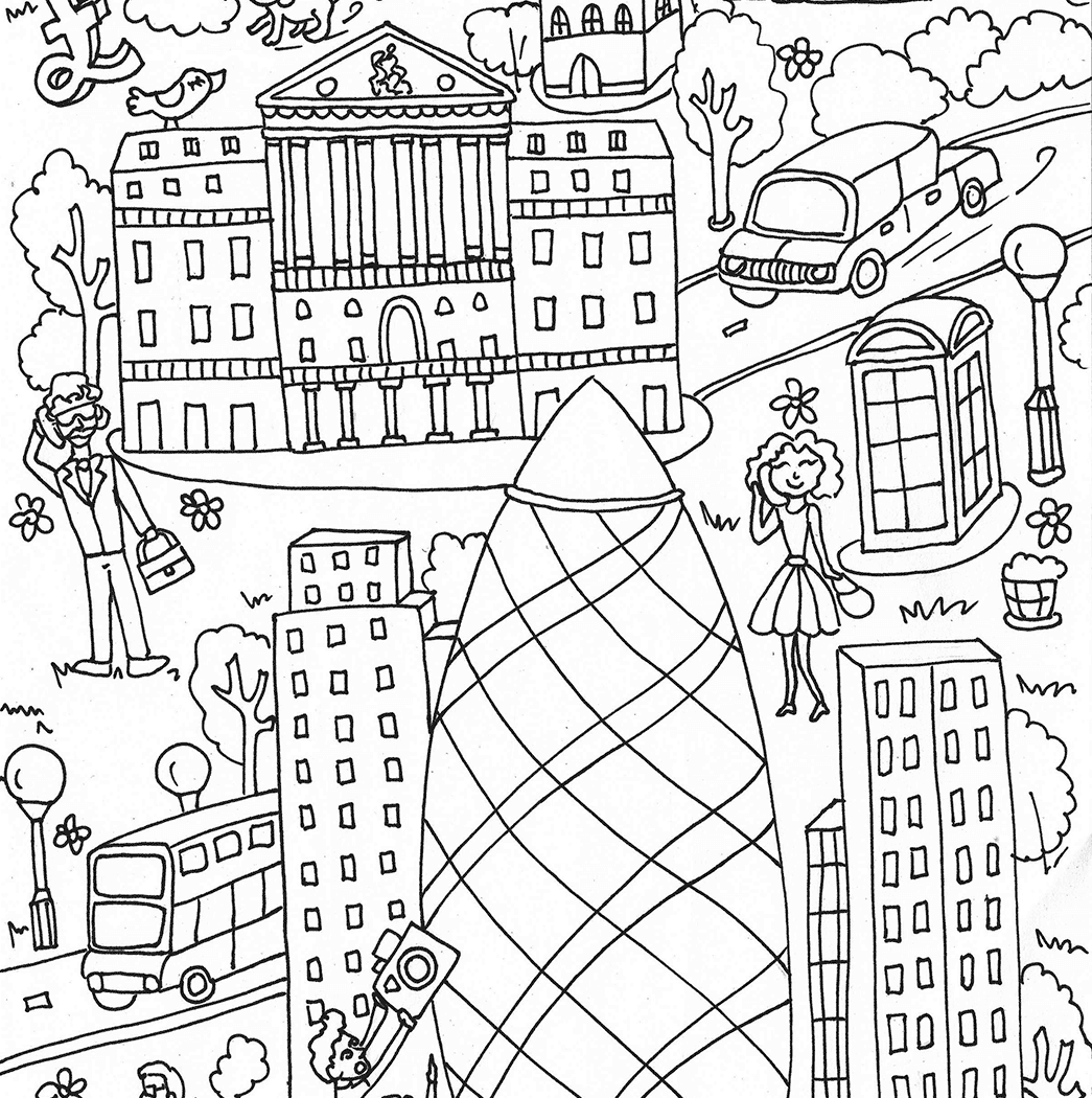 1045x1050 Arts Culture St Mary Axe And Bank Of England About Coloring Pages