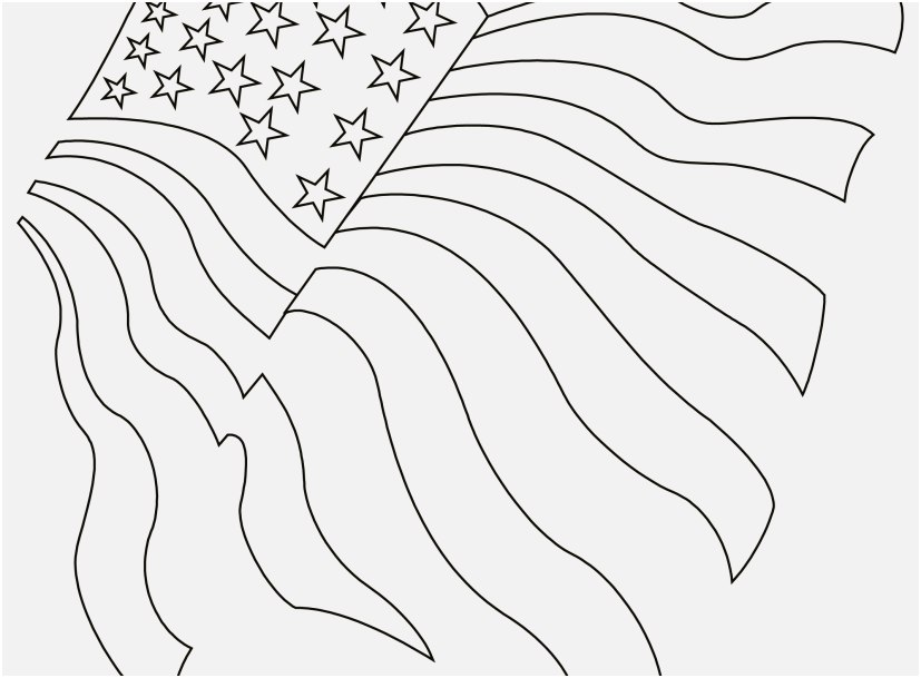 827x609 Flag Coloring Pages Concept American Flag Coloring Pages