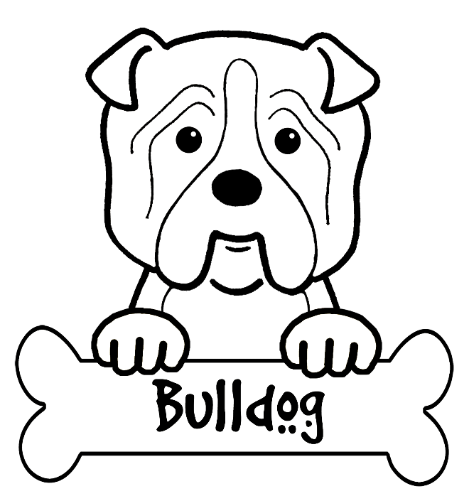 660x705 Bulldog Coloring Pictures