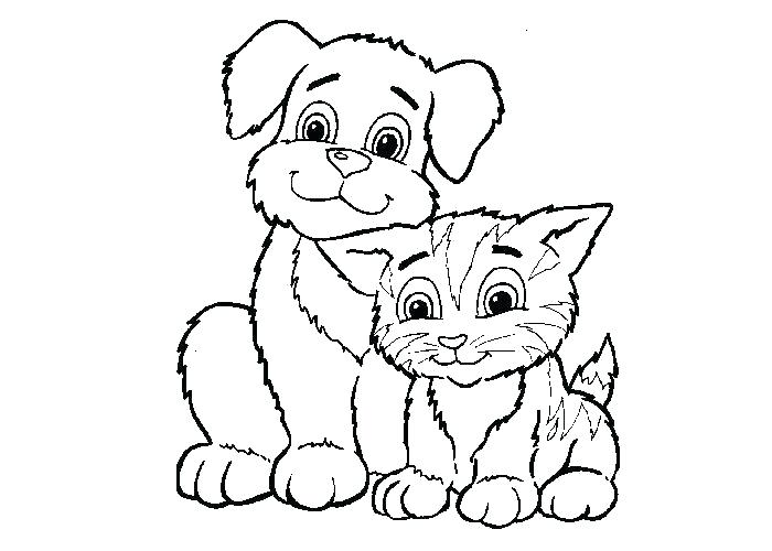 700x500 Free Dog Coloring Pages Cats And Dogs Coloring Pages Free Coloring