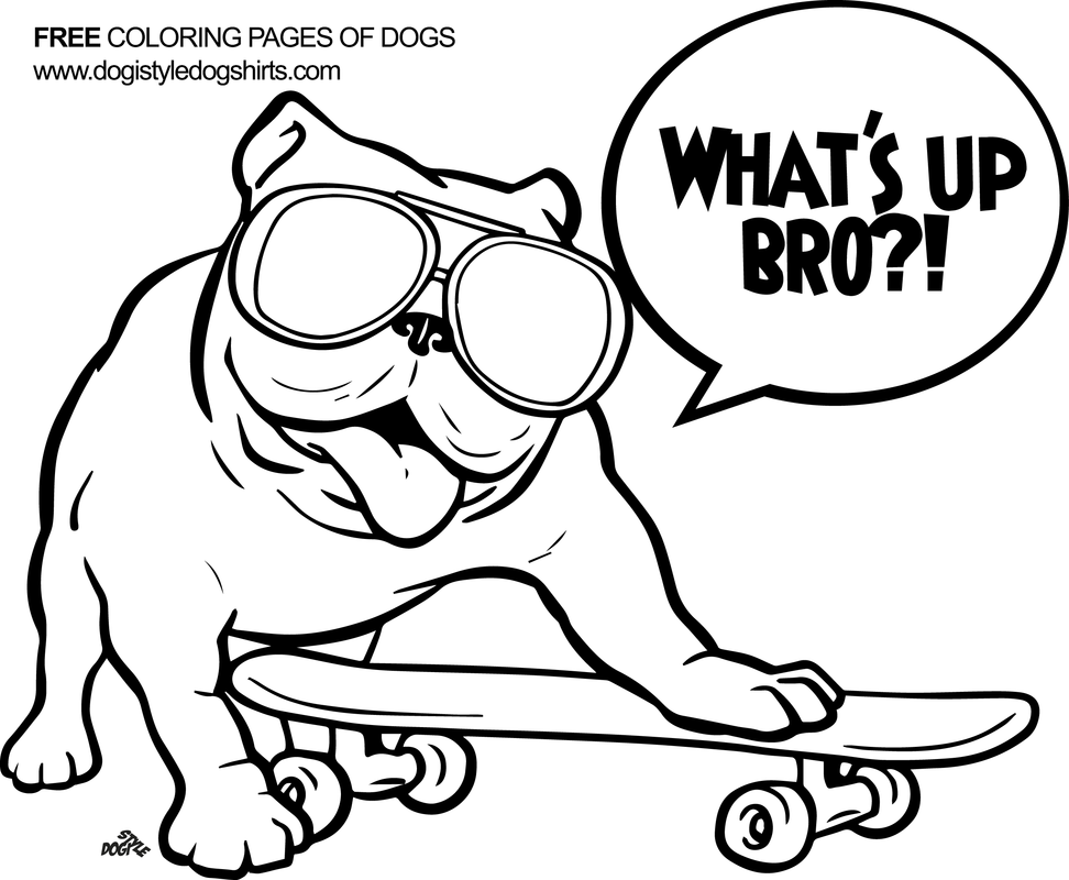 English Bulldog Coloring Pages Printable