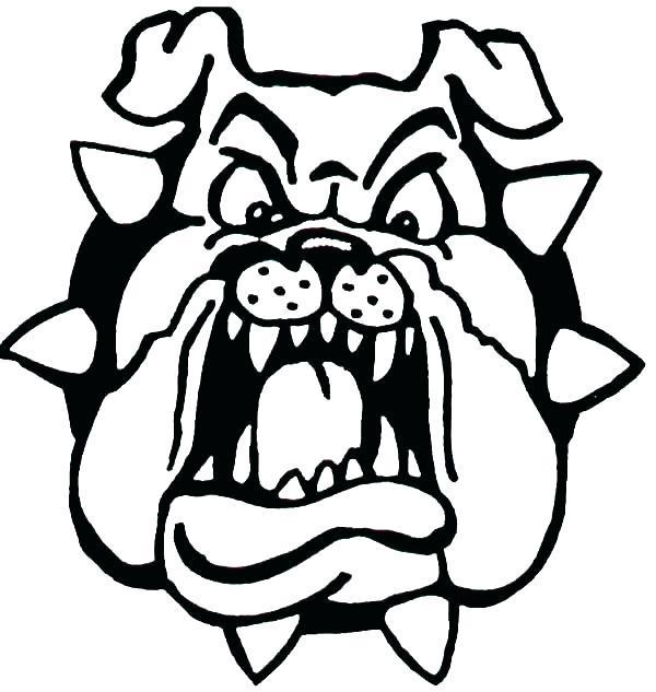 600x633 Bulldog Coloring Pages Bulldogs Coloring Pages Bulldog Color Sheet