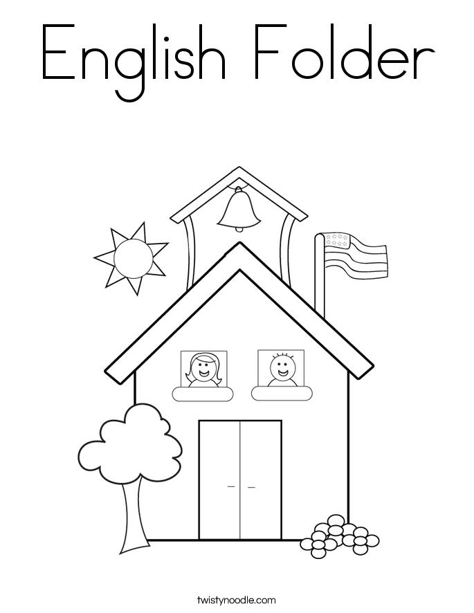 685x886 English Folder Coloring Page