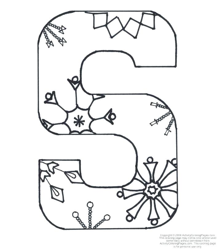 709x808 Alphabet Letter S Coloring Page A Free English Coloring Printable