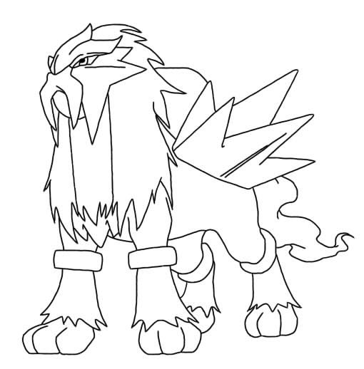 510x518 Pleasant Design Ideas Pokemon Coloring Pages Entei