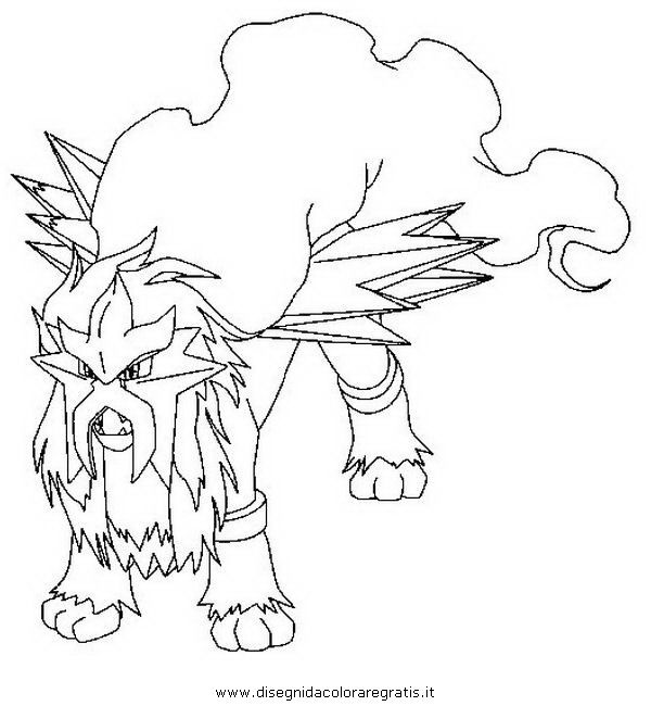 600x650 Pokemon Coloring Pages Entei Pokemon Coloring Pages Coloring