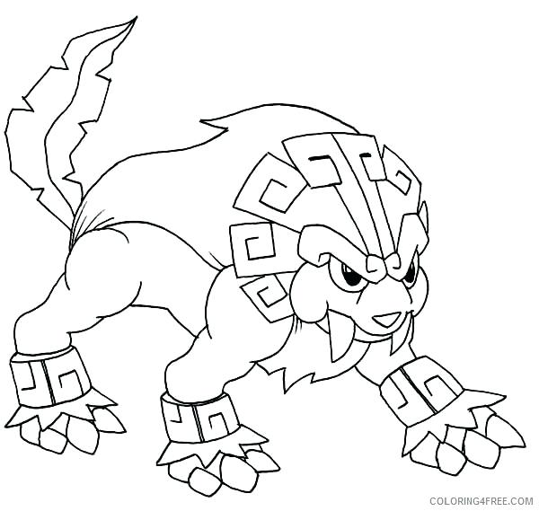 600x569 Pokemon Coloring Pages Entei Legendary Coloring Pages Dog Inspire