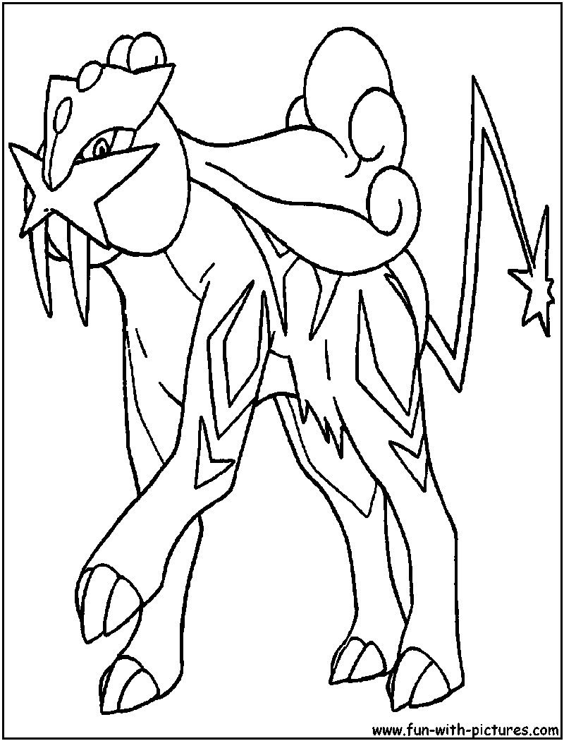 800x1050 Pokemon Coloring Pages Entei Page X