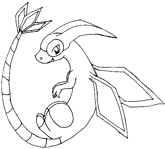 566x511 Pokemon Coloring Pages Flygon