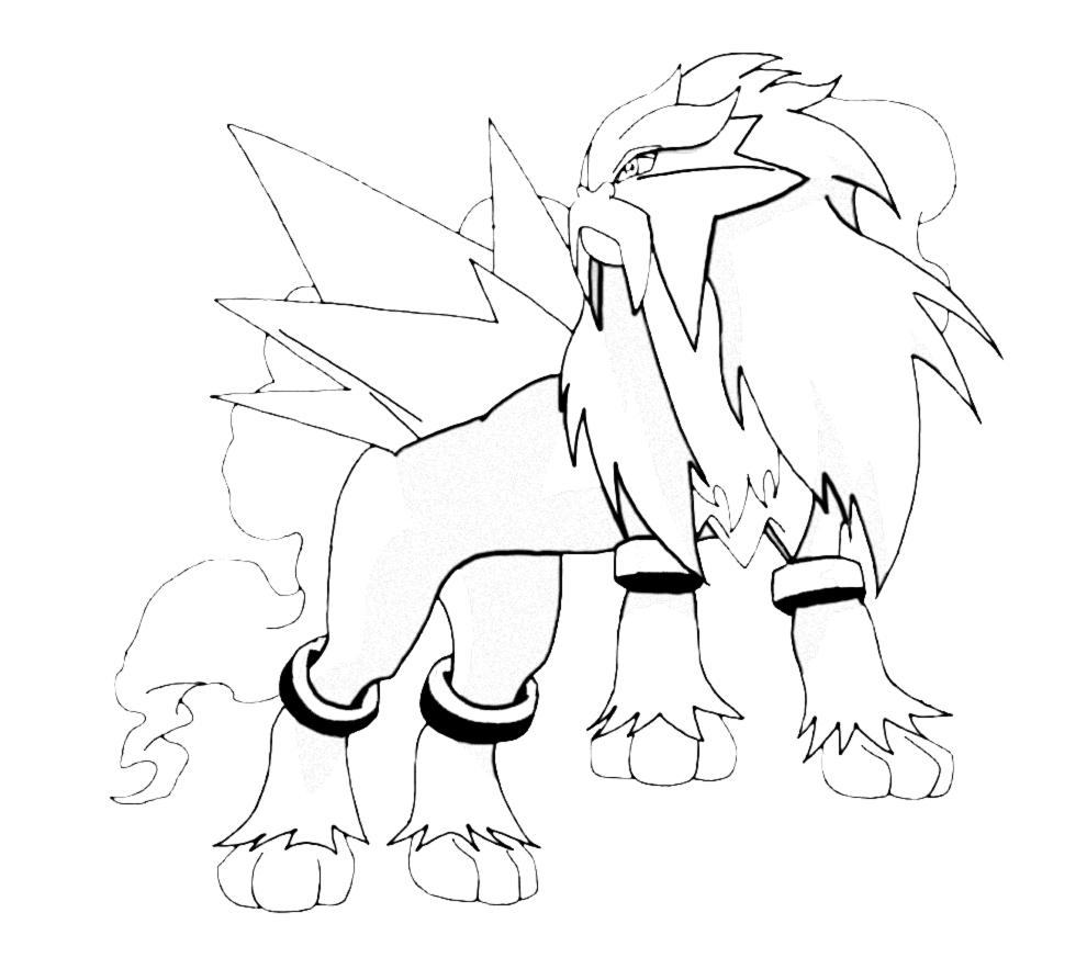 990x883 Pokemon Entei Coloring Pages