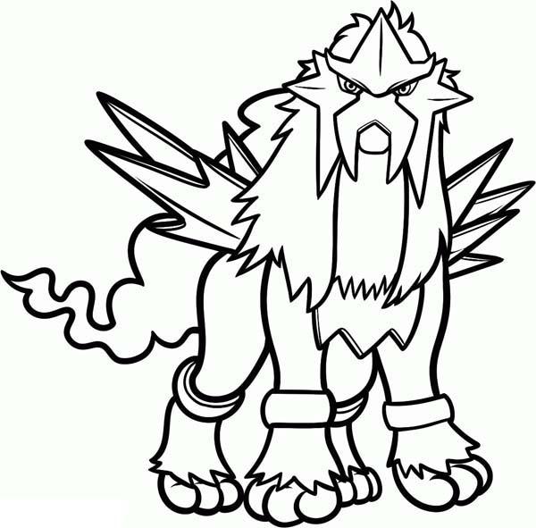 600x591 Surprising Idea Pokemon Coloring Pages Entei
