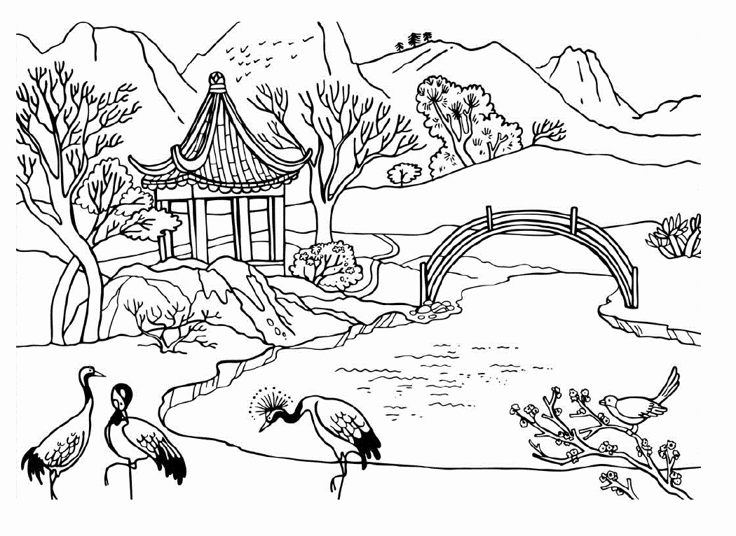 1050x766 Focus Coloring Pages Environmental Awareness Environment Free