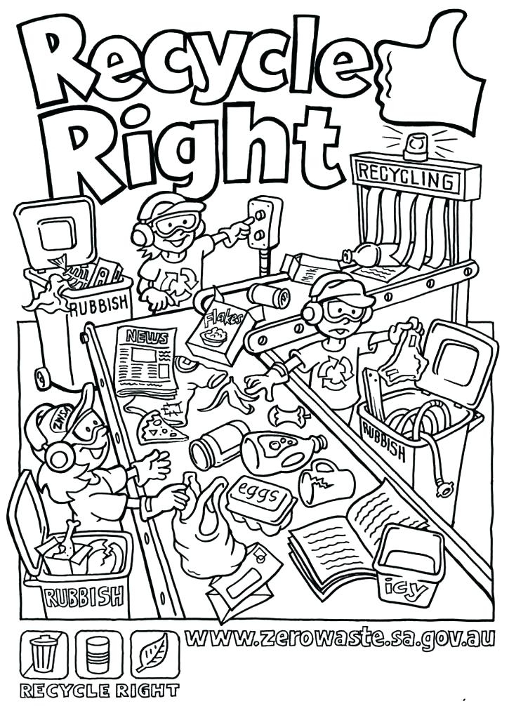 725x1006 Recycling Coloring Pages To Encourage Love For The Environment