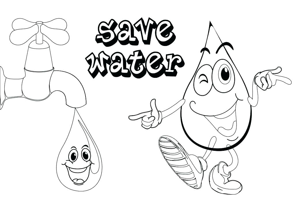 1024x724 Coloring Underwater Coloring Page Pages Free Printable Save Water
