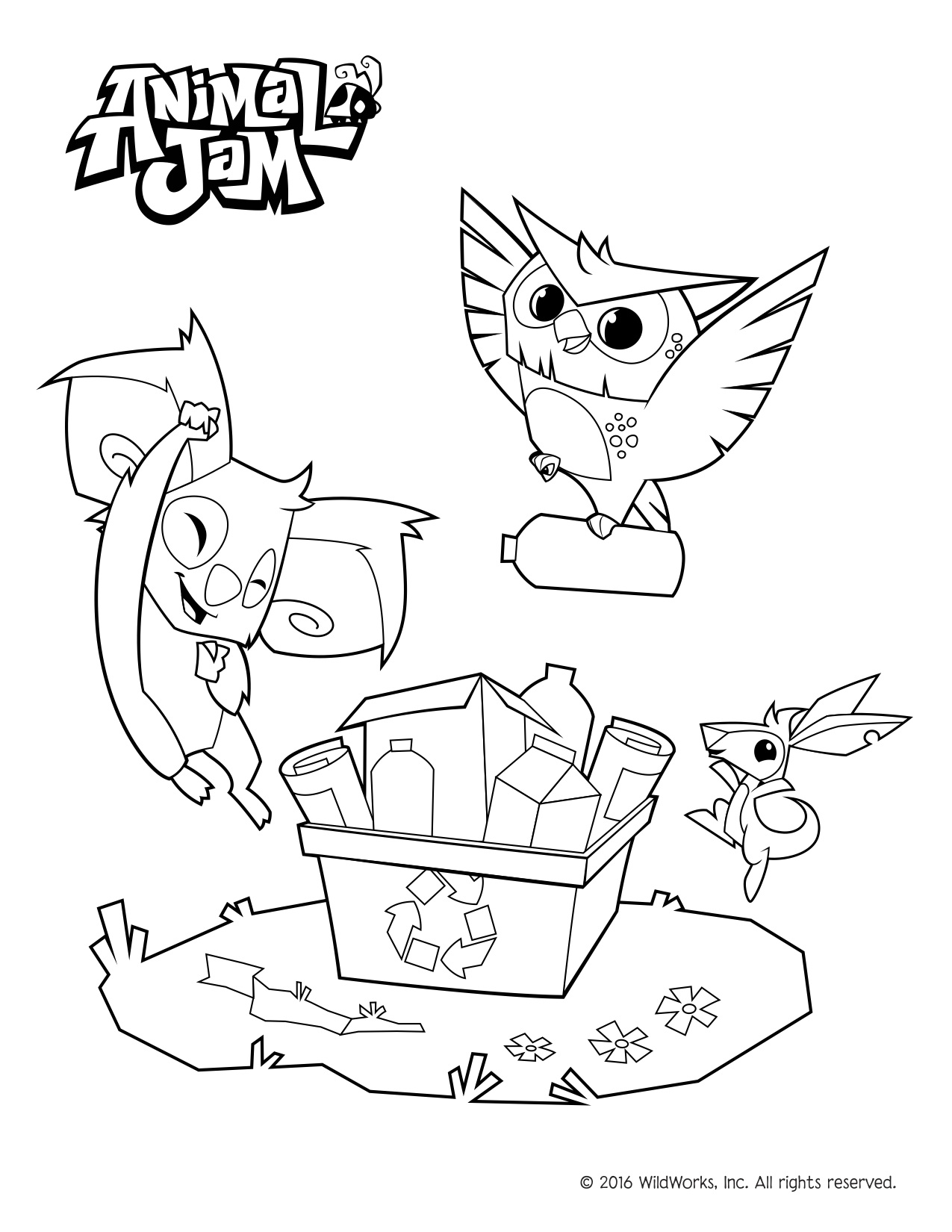 1275x1650 Animal Jam Coloring Pages! Celebrate Spring And The Environment