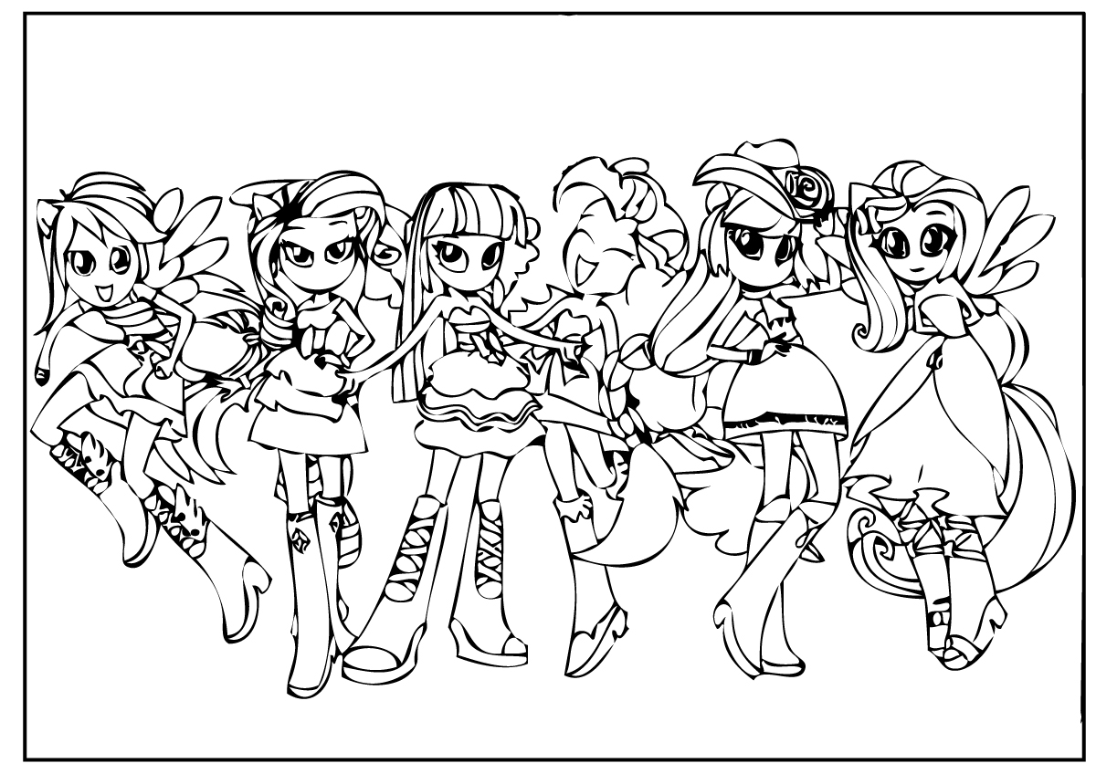 1200x848 My Little Pony Equestria Girls Coloring Pages