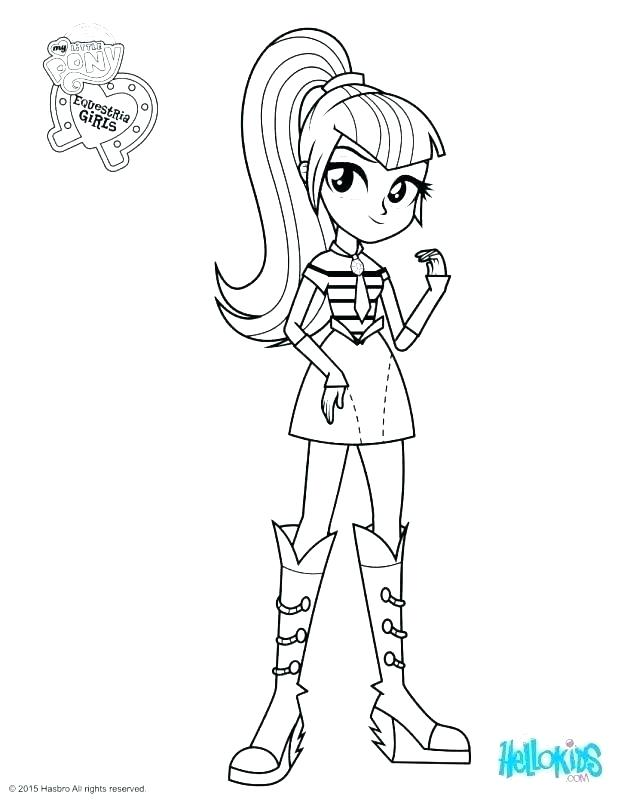 618x800 My Little Pony Equestria Girl Coloring Pages Icontent